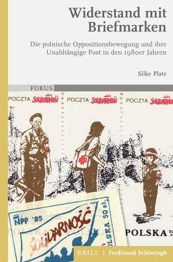 Widerstand mit Briefmarken von Plate,  Silke