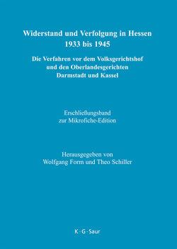 Widerstand und Verfolgung in Hessen 1933 bis 1945 / Erschließungsband zur Mikrofiche-Edition von Brandes,  Karin, Form,  Wolfgang, Schiller,  Theo