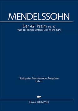 Wie der Hirsch schreit (Klavierauszug) von Mendelssohn Bartholdy,  Felix