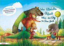Wie Ellabella Elefant allein den Weg zu Oma fand. Bildkarten fürs Erzähltheater Kamishibai von Rauers,  Wiebke, Schürmann-Mock,  Iris