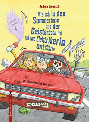 Wie ich in den Sommerferien aus der Geisterbahn fiel und eine Elektrikerin entführte von Brink,  Mele, Lienesch,  Andrea