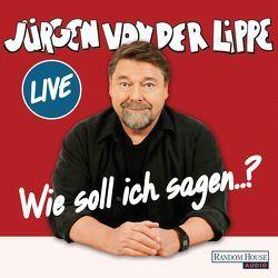 Wie soll ich sagen … von Lippe,  Jürgen