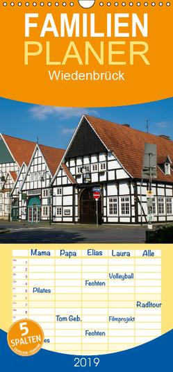 Wiedenbrück – Familienplaner hoch (Wandkalender 2019 , 21 cm x 45 cm, hoch) von Scholz,  Daniela