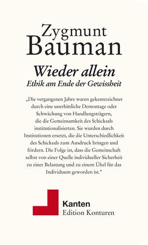 Wieder allein von Bauman,  Zygmunt