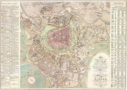 Wien und dessen Vorstädten 1824, Historische Karte 1:6.000, plano in Rolle
