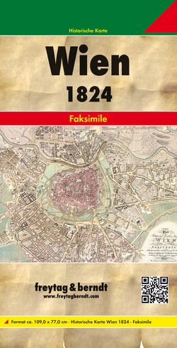 Wien und dessen Vorstädten 1824, Historische Karte 1:6.000