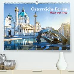 Wien und Graz. Österreichs Perlen (Premium, hochwertiger DIN A2 Wandkalender 2021, Kunstdruck in Hochglanz) von Stanzer,  Elisabeth
