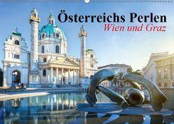 Wien und Graz. Österreichs Perlen (Wandkalender 2019 DIN A2 quer) von Stanzer,  Elisabeth