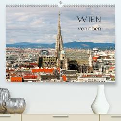 WIEN von oben (Premium, hochwertiger DIN A2 Wandkalender 2021, Kunstdruck in Hochglanz) von ViennaFrame