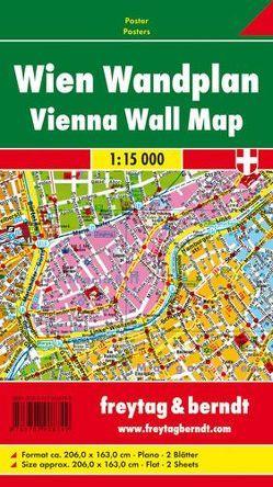 Wien Wandplan, 1:15.000, Poster von Freytag-Berndt und Artaria KG