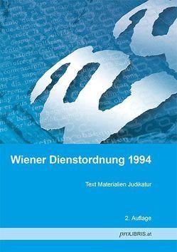 Wiener Dienstordnung 1994 von proLIBRIS VerlagsgesmbH