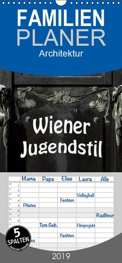 Wiener Jugendstil – Familienplaner hoch (Wandkalender 2019 , 21 cm x 45 cm, hoch) von Robert,  Boris