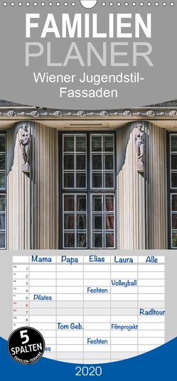 Wiener Jugendstil-Fassaden – Familienplaner hoch (Wandkalender 2020 , 21 cm x 45 cm, hoch) von Braun,  Werner