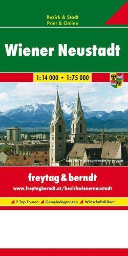 Wiener Neustadt, Stadtplan 1:14.000 – 1:75.000, Stadt + Bezirk