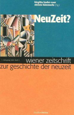 Wiener Zeitschrift zur Geschichte der Neuzeit 2/01 von Bader-Zaar,  Birgitta, Hämmerle,  Christa
