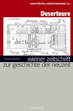Wiener Zeitschrift zur Geschichte der Neuzeit 2/08 von Fritsche,  Maria, Hämmerle,  Christa