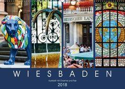 Wiesbaden Kurstadt mit Charme und Flair (Wandkalender 2018 DIN A2 quer) von Meyer,  Dieter