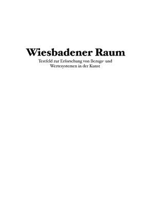 Wiesbadener Raum von Büttner,  Sascha