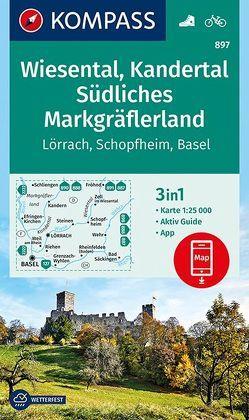 Wiesental, Kandertal, Südliches Markgräflerland von KOMPASS-Karten GmbH