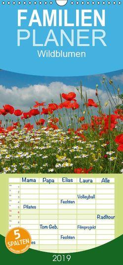 Wildblumen 2019 – Familienplaner hoch (Wandkalender 2019 , 21 cm x 45 cm, hoch) von Geduldig,  Bildagentur