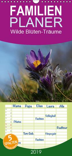 Wilde Blüten-Träume – Familienplaner hoch (Wandkalender 2019 , 21 cm x 45 cm, hoch) von Klapp,  Lutz