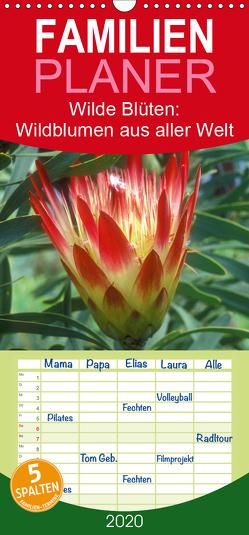Wilde Blüten: Wildblumen aus aller Welt – Familienplaner hoch (Wandkalender 2020 , 21 cm x 45 cm, hoch) von CALVENDO