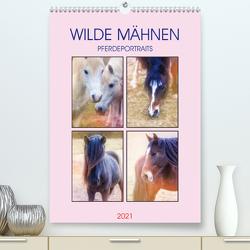 Wilde Mähnen (Premium, hochwertiger DIN A2 Wandkalender 2021, Kunstdruck in Hochglanz) von Brunner-Klaus,  Liselotte