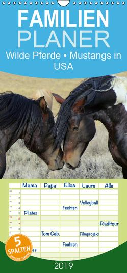 Wilde Pferde • Mustangs in USA – Familienplaner hoch (Wandkalender 2019 , 21 cm x 45 cm, hoch) von Stanzer,  Elisabeth