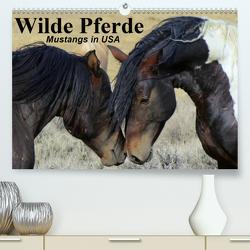 Wilde Pferde • Mustangs in USA (Premium, hochwertiger DIN A2 Wandkalender 2021, Kunstdruck in Hochglanz) von Stanzer,  Elisabeth