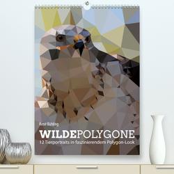 Wilde Polygone (Premium, hochwertiger DIN A2 Wandkalender 2021, Kunstdruck in Hochglanz) von Bühling,  René