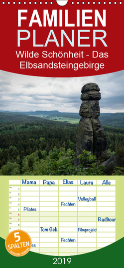 Wilde Schönheit – Das Elbsandsteingebirge – Familienplaner hoch (Wandkalender 2019 , 21 cm x 45 cm, hoch) von Krebs,  Thomas