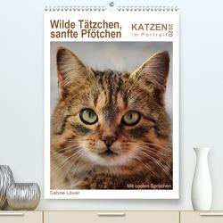 Wilde Tätzchen, sanfte Pfötchen (Premium, hochwertiger DIN A2 Wandkalender 2020, Kunstdruck in Hochglanz) von Löwer,  Sabine
