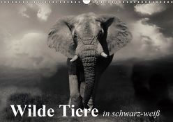 Wilde Tiere in schwarz-weiß (Wandkalender 2019 DIN A3 quer) von Stanzer,  Elisabeth