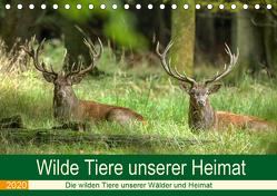Wilde Tiere unserer Heimat (Tischkalender 2020 DIN A5 quer) von Brack,  Roland