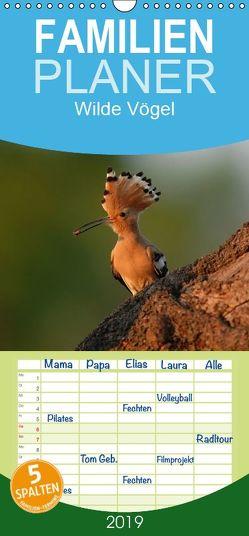 Wilde Vögel – Familienplaner hoch (Wandkalender 2019 , 21 cm x 45 cm, hoch) von Hilger,  Axel