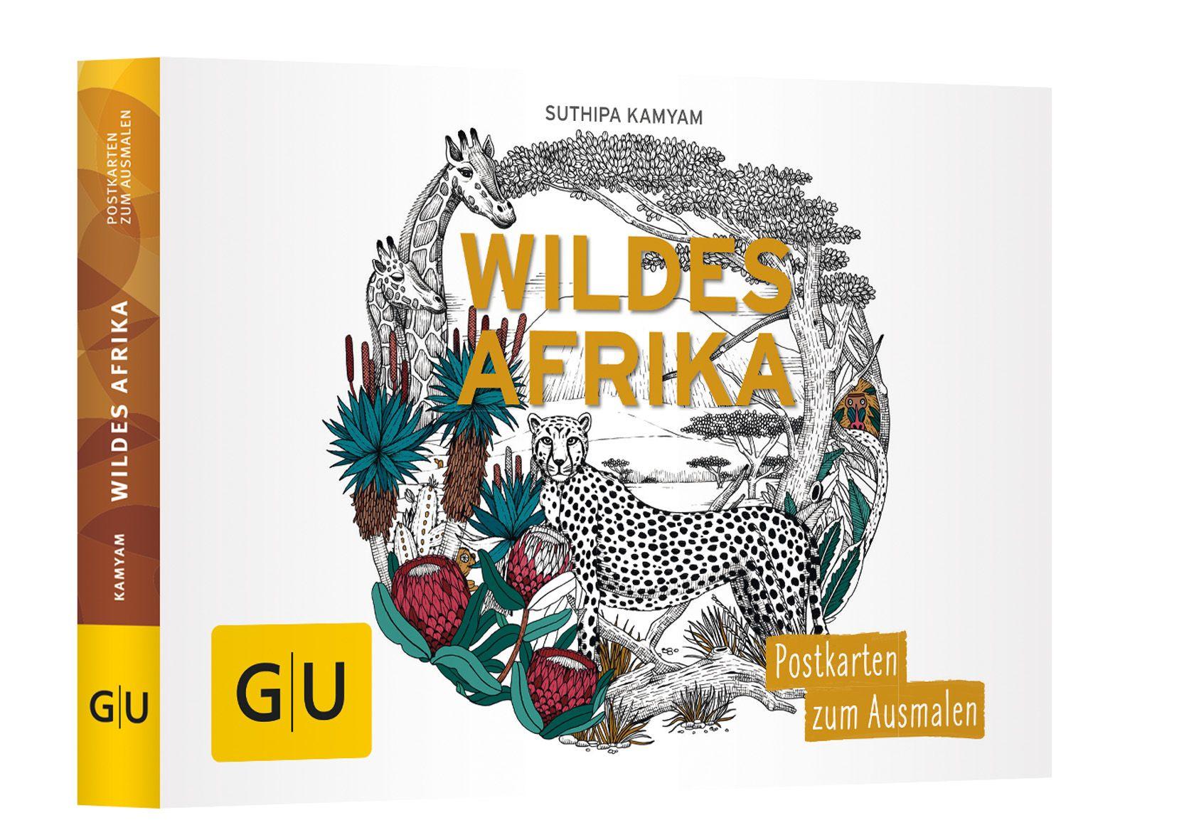 Wildes Afrika: Postkartenbuch zum Ausmalen von Kamyam, Suthipa: