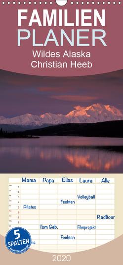 Wildes Alaska Christian Heeb – Familienplaner hoch (Wandkalender 2020 , 21 cm x 45 cm, hoch) von Heeb,  Christian