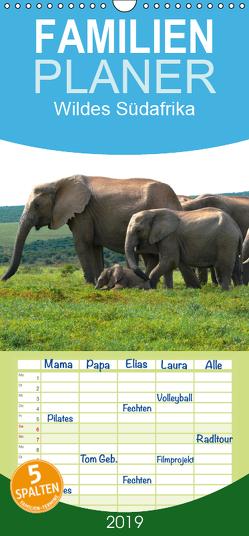 Wildes Südafrika – Familienplaner hoch (Wandkalender 2019 , 21 cm x 45 cm, hoch) von Stützle