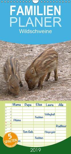 Wildschweine – Familienplaner hoch (Wandkalender 2019 , 21 cm x 45 cm, hoch) von Berg,  Martina