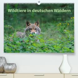 Wildtiere in deutschen Wäldern (Premium, hochwertiger DIN A2 Wandkalender 2021, Kunstdruck in Hochglanz) von Jähne,  Karin