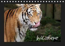 Wildtiere (Tischkalender 2019 DIN A5 quer) von Zeller und Christian Kiedy,  Katrin
