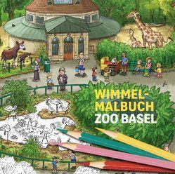 Wimmel-Malbuch Zoo Basel von Brüchler,  Mirco