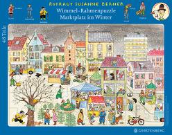 Wimmel-Rahmenpuzzle Winter Motiv Marktplatz von Berner,  Rotraut Susanne