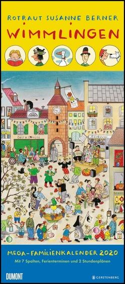 Wimmlingen 2020 – DUMONT Mega-Familienkalender mit 7 Spalten – Familienplaner mit 2 Stundenplänen und Ferientabelle – Hochformat 30,0 x 68,5 cm von Berner,  Rotraut Susanne, DUMONT Kalenderverlag