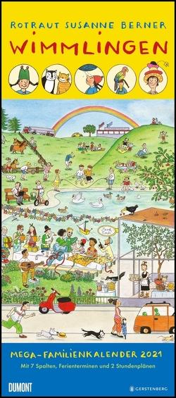 Wimmlingen 2021 – Mega-Familienkalender mit 7 Spalten – Mit 2 Stundenplänen und Ferientabelle – Hochformat 30,0 x 68,5 cm von Berner,  Rotraut Susanne