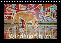 Windhund bunt (Tischkalender 2019 DIN A5 quer) von Köntopp,  Kathrin