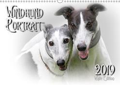 Windhund Portrait 2019 White Edition (Wandkalender 2019 DIN A3 quer) von Redecker,  Andrea