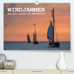 Windjammer auf der Ostsee im Abendlicht (Premium, hochwertiger DIN A2 Wandkalender 2021, Kunstdruck in Hochglanz) von Ködder,  Rico