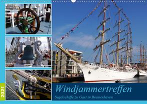 Windjammertreffen – Segelschiffe zu Gast in Bremerhaven (Wandkalender 2021 DIN A2 quer) von Gayde,  Frank