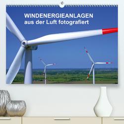 Windkraftanlagen aus der Luft fotografiert (Premium, hochwertiger DIN A2 Wandkalender 2020, Kunstdruck in Hochglanz) von Siegert - www.batcam.de , - Tim